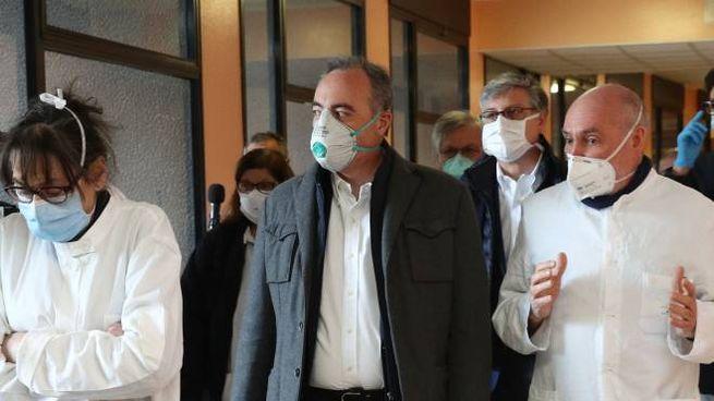 La visita dell'assessore Gallera a Brescia