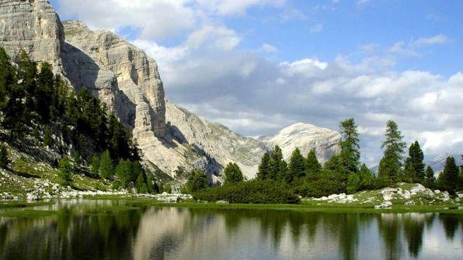Un'immagine della Val Di Fanes, nei dintorni di Cortina (Ansa)