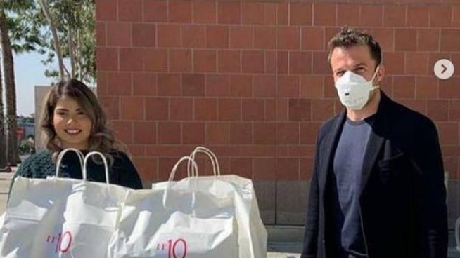 Del Piero dona pasti a un ospedale di Los Angeles