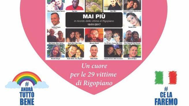 Rigopiano, così le famiglie ricordano le 29 vittime