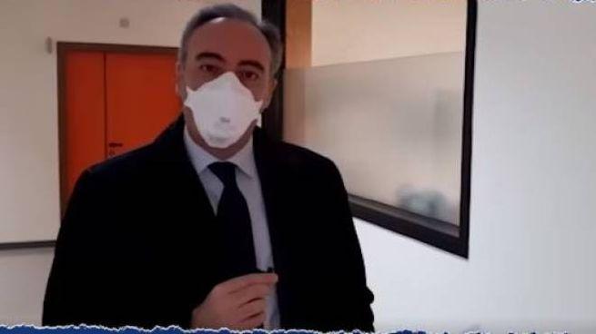 L'assessore Giulio Gallera (Frame video Facebook)