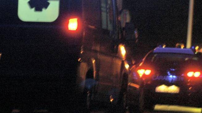 Ambulanza e carabinieri