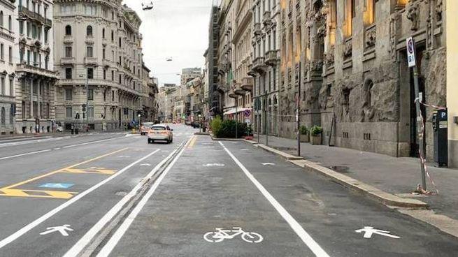 Nuova pista ciclabile a Milano