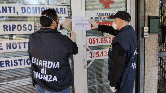 La Guardia di Finanza ha sequestrato i locali