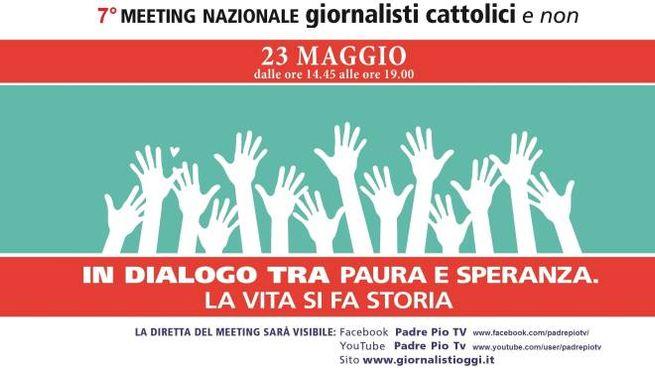 """""""Meeting nazionale giornalisti cattolici e non"""" in programma il prossimo 23 maggio"""
