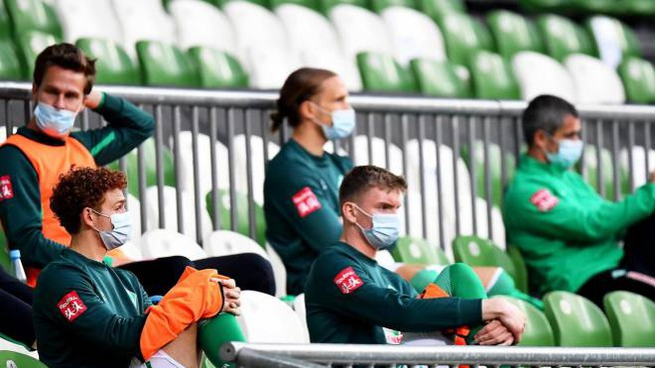 Bundesliga, la panchina del Werder Bremen (Ansa)