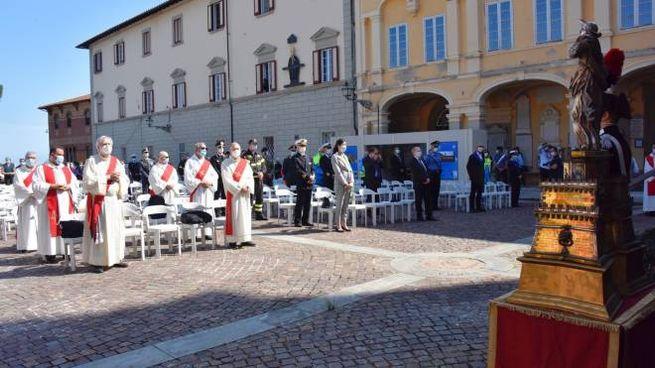 Un momento della Messa per Santa Giulia (Foto Novi)