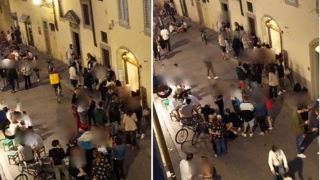 Foto scattate nella serata di giovedì 21 maggio a Firenze in centro storico