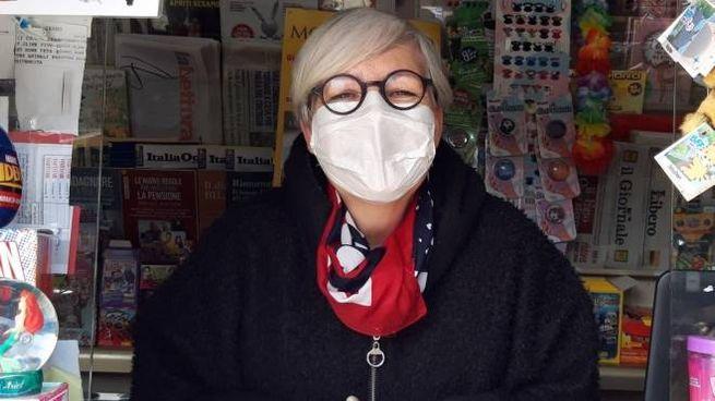 Mary Randelli, titolare dell' edicola Pista Rossa di Seano che domani sarà aperta insieme a tante altre