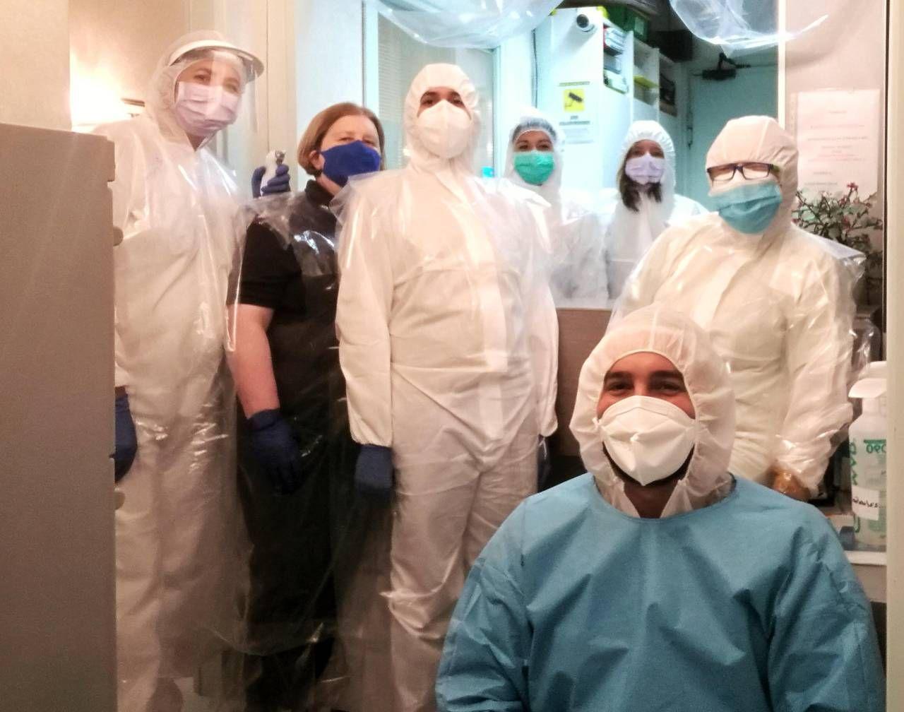 Lo staff dello studio Martelli pronto ad entrare in azione