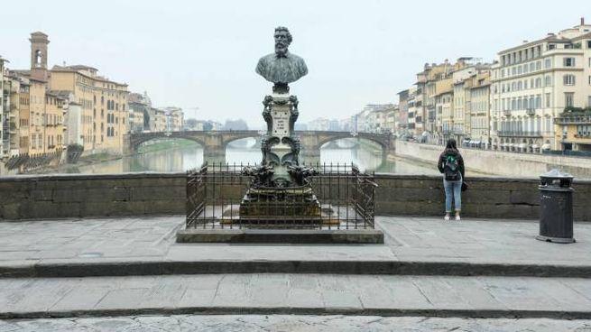 Deserto il centro di Firenze