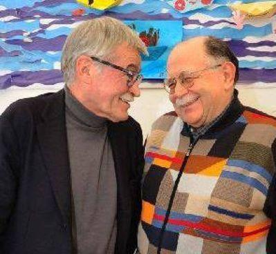 Gli scrittori modenesi Marco Santagata e Walter Siti (ph. Diego Poluzzi)