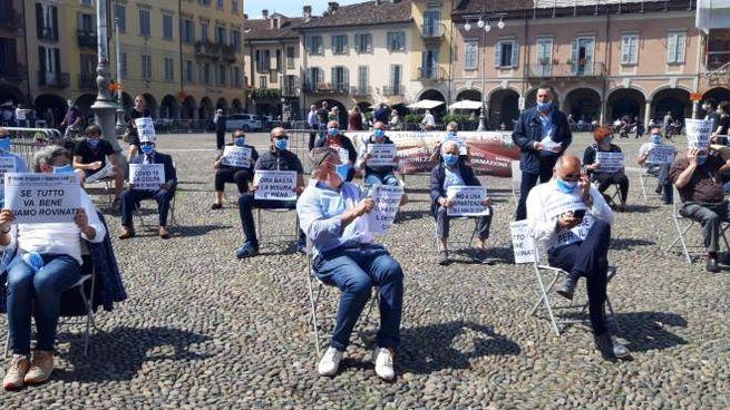 La protesta degli artigiani contro il Decreto Rilancio