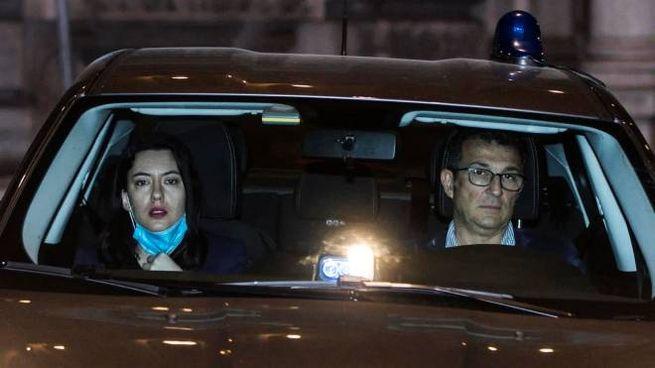 Il ministro Lucia Azzolina all'arrivo a Palazzo Chigi per il vertice sulla scuola (Ansa)