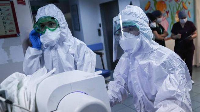 Coronavirus, operatori sanitari (Ansa)