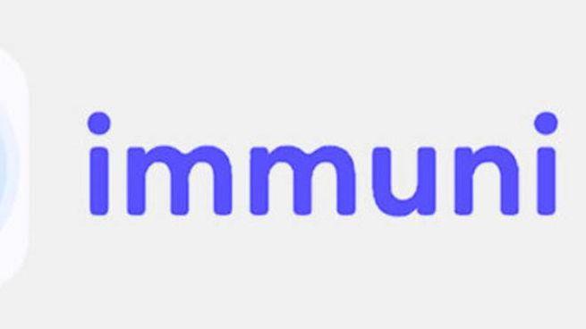 The logo of the Immuni App (Ansa)