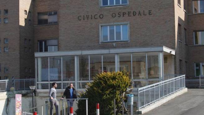 L'ingresso dell'ospedale di viale Marconi in cui è stato individuato il paziente 1