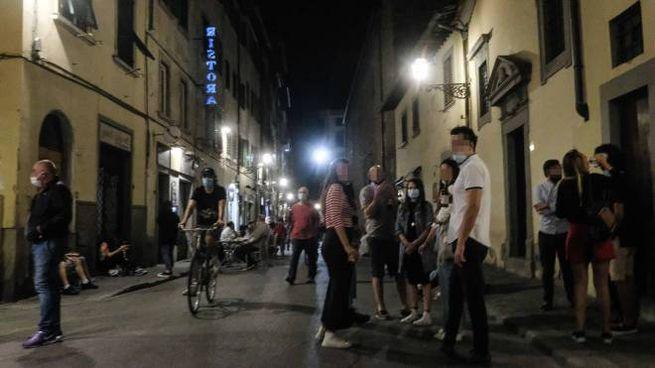 Movida in centro a Firenze (New Press Photo)