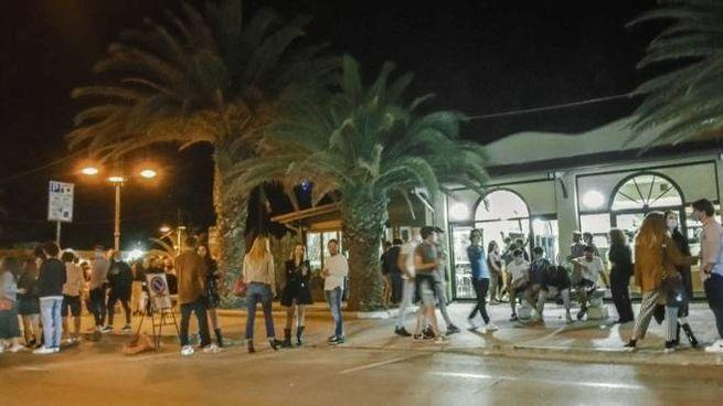 Il lungomare di Porto San Giorgio come si presentava lo scorso sabato notte (Zeppilli)