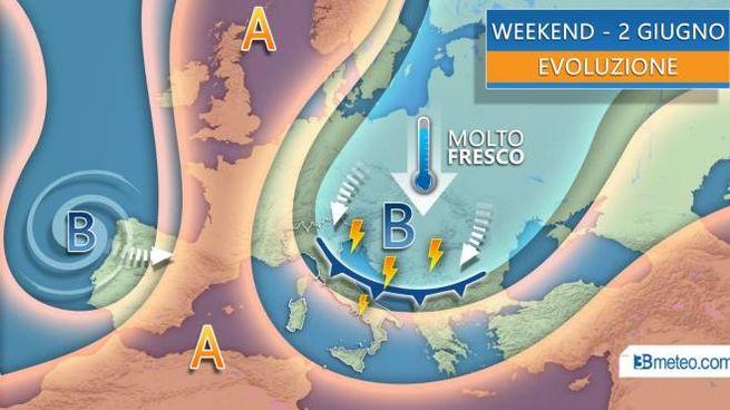 Le previsioni del tempo per il weekend (3bmeteo)