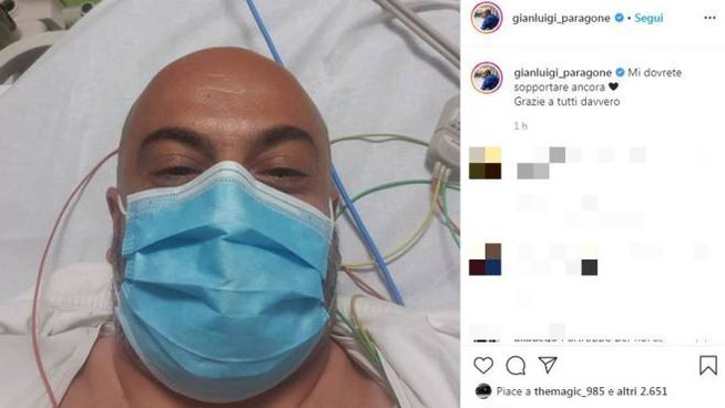 Il post su Instagram di Gianluigi Paragone dopo l'incidente