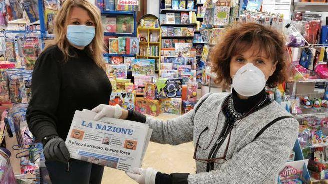 Venerdì 5 giugno mascherine gratis in edicola (Acerboni/Foto Castellani)