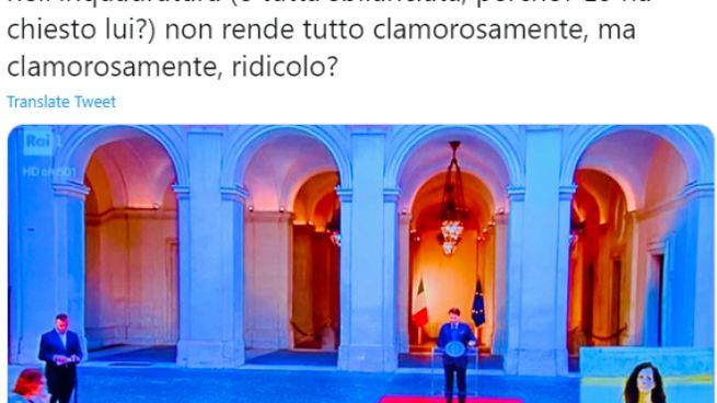 Luca Bizzarri's tweet during Conte's speech