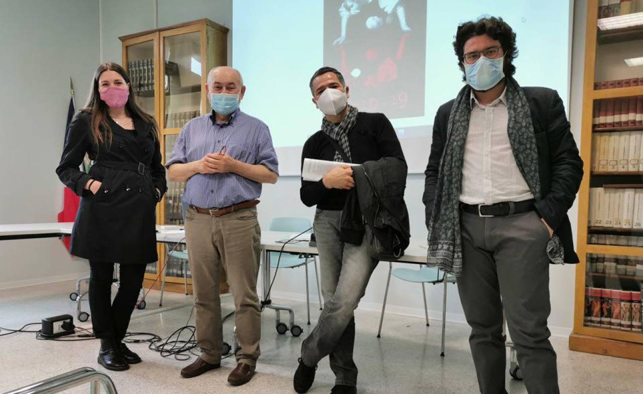 Il professor Fabio Macedoni insieme al regista Francesco Facciolli