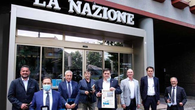 """I sindaci della costa toscana al Forum della """"Nazione"""" (New Press Photo)"""