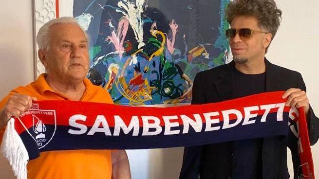 Franco Fedeli e Domenico Serafino dopo la firma