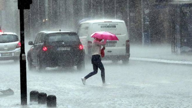 Pioggia intensa (Ansa)
