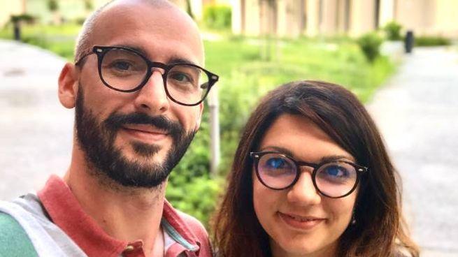 Il dottorando Alessandro Bondielli e l'assegnista di ricerca Lucia Passaro