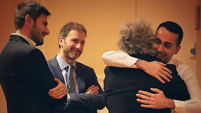 Grillo, Di Maio, Di Battista e Casaleggio junior dopo le elezioni 2018