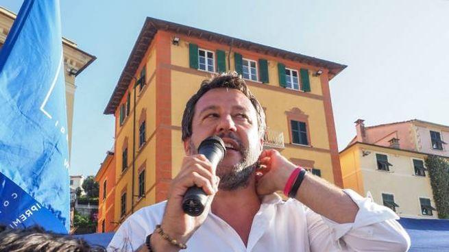 Matteo Salvini a Lerici (foto Frascatore)