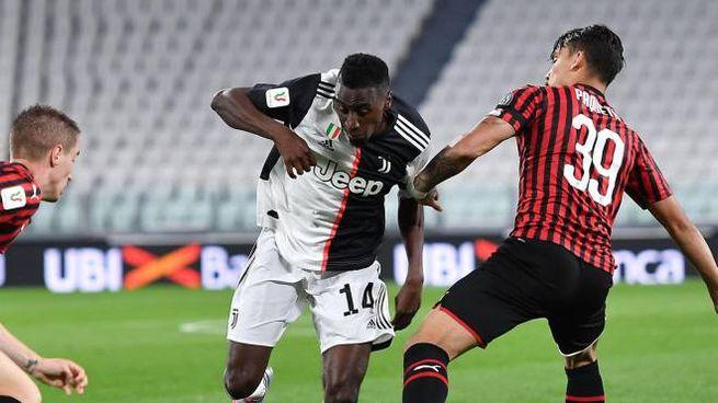 Matuidi in azione contro il Milan