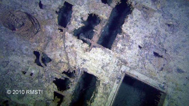 Un'immagine della Marconi room nel 2010 (foto RMS Titanic Inc)