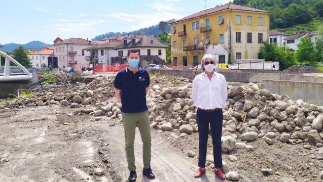 L'assessore Giampedrone e il sindaco Del Vigo