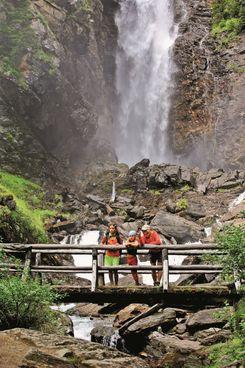 Le cascate di Saènt in Val di Rabbi