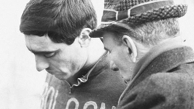 William Negri con l'allenatore Bernardini nell'ottobre del 1963