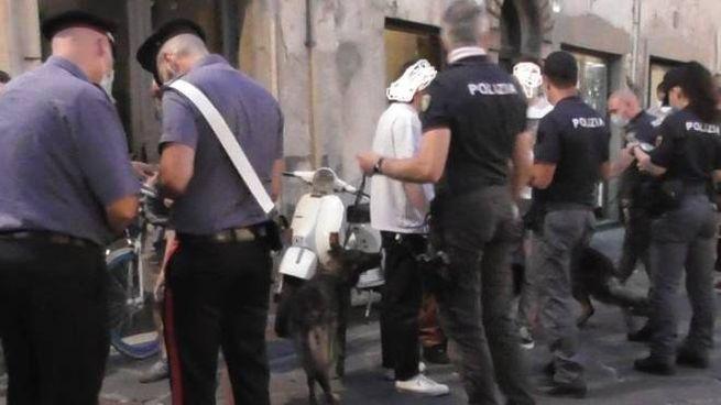 I controlli durante la movida a Lucca