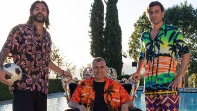 Adani, Vieri e Ventola: 3 amici e 3 grandi campioni sul set del video girato in Calvana