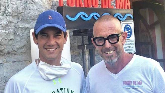 Il noto golfista Matteo Manassero con Marco Ganapini