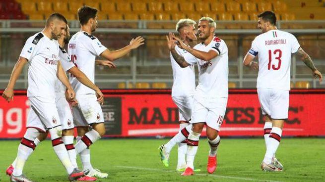 I giocatori del Milan (Ansa)