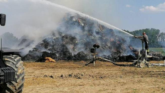 L'incendio a Brugneto