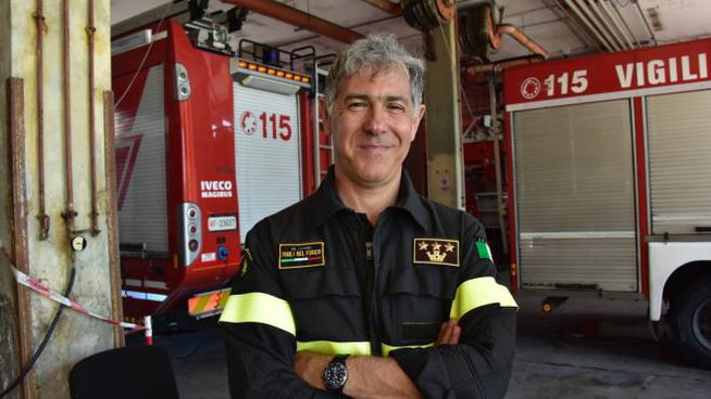 Il nuovo comandante dei vigili del fuoco, Ugo D'Anna (Foto Novi)