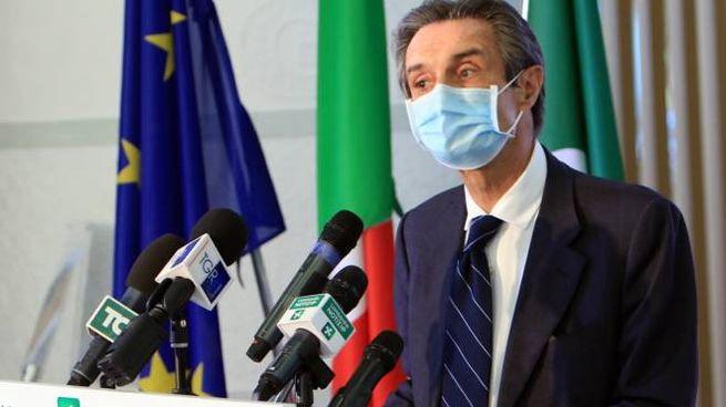 Il governatore Attilio Fontana dopo la nomina del gruppo di saggi