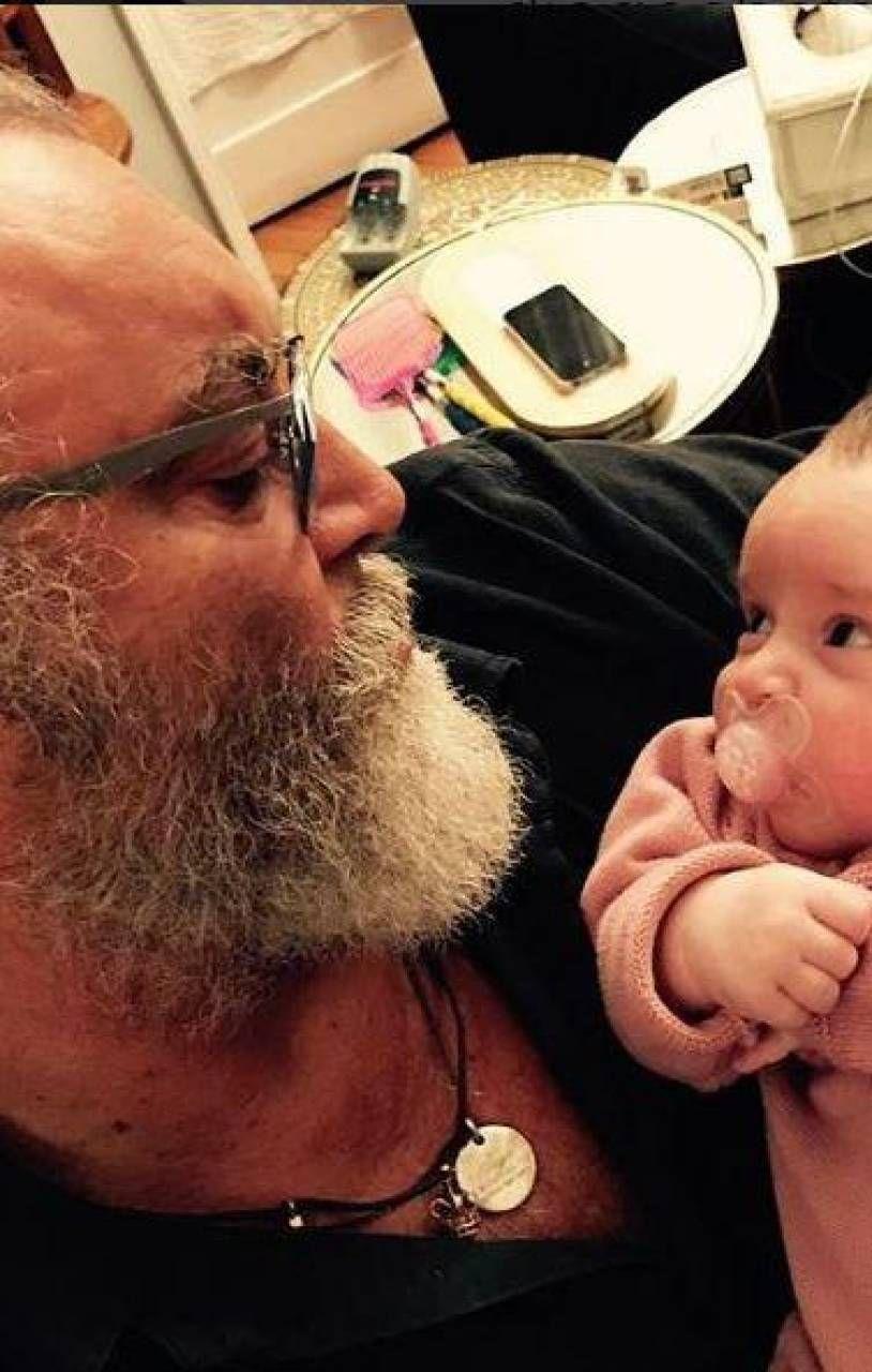 Abatantuono con la nipotina nel 2016