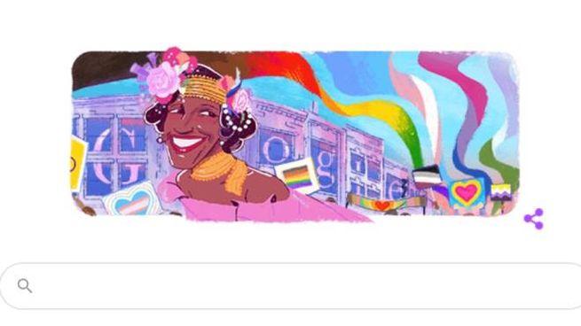 Marsha P. Johnson nel doodle di Google