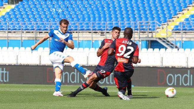 Alfredo Donnarumma contro il Genoa