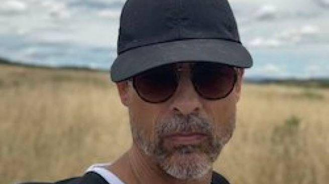 Il selfie postato da Alessandro Gassmann su Twitter